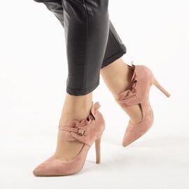 Pantofi de dama, roz, toc inalt si bareta L88-159-PINK, Marime: 35*, imagine