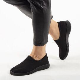 Sneakers dama din material textil, talpa usoara si comoda MD8816-BLACK, Marime: 38, imagine