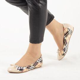 Pantofi de dama, bej, cu talpa joasa si comoda MM-35-BEIGE, Marime: 41*, imagine