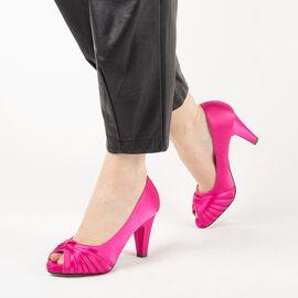 Pantofi de dama, fucsia, eleganti, cu toc gros A3376-FUCSIA, Marime: 40, imagine