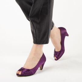 Pantofi de dama mov cu toc mic A2071-PURPLE, Marime: 37, imagine