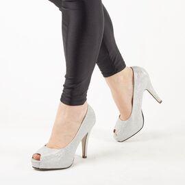 Pantofi de dama eleganti A1262-SILVER, Marime: 36, imagine