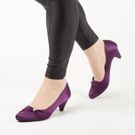 Pantofi dama cu toc A585PURPLE, Marime: 39, imagine