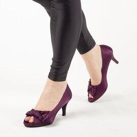 Pantofi de dama cu fundita A2191PURPLE, Marime: 40, imagine