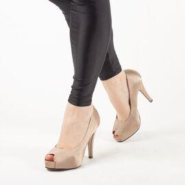 Pantofi de dama eleganti A1265-BEIGE, Marime: 38, imagine