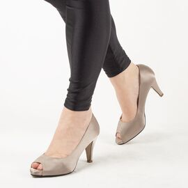 Pantofi de dama eleganti A794-BEIGE, Marime: 39, imagine