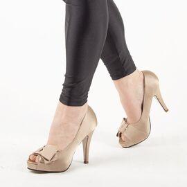 Pantofi de dama eleganti A1267-BEIGE, Marime: 35, imagine