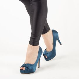 Pantofi de dama eleganti A1267-BLUE, Marime: 38, imagine