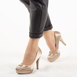 Pantofi de dama eleganti A01-6-BEIGE, Marime: 39, imagine