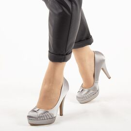 Pantofi de dama eleganti A01-6-GRAY, Marime: 40, imagine
