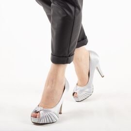 Pantofi de dama eleganti A1268-SILVER, Marime: 38, imagine