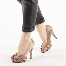 Pantofi de dama eleganti A1268-BEIGE, Marime: 35, imagine