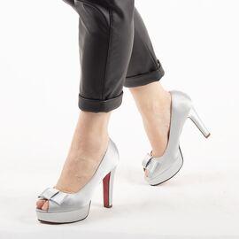 Pantofi de dama eleganti A03-2-SILVER, Marime: 38, imagine
