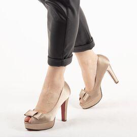 Pantofi de dama eleganti A03-2-BEIGE, Marime: 36, imagine