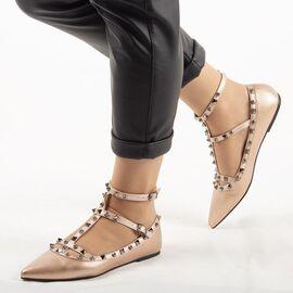 Balerini dama accesorizati bronz YT5512-C, Marime: 39, imagine