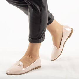 Pantofi de dama, bej, lacuiti JL712-2-BEIGE, Marime: 36, imagine