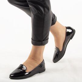 Pantofi de dama, negri, lacuiti JL712-1-BLACK, Marime: 36, imagine