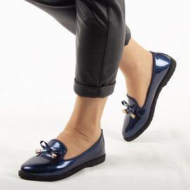 Pantofi de dama, bleumarin, lacuiti, accesorizati cu funda A30-2-BLUE, Marime: 36, imagine