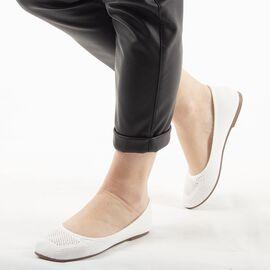 Pantofi dama comozi de vara K001 WHITE, Marime: 36, imagine