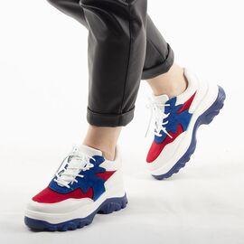 Sneakers de dama colorati cu platforma E3260-B, Marime: 41, imagine