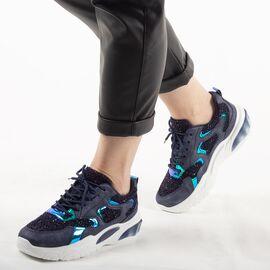 Pantofi dama albastri sport cu talpa groasa YY-95-B, Marime: 41, imagine