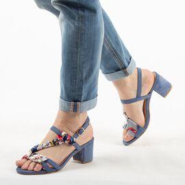 Sandale dama, bleu, toc mediu, comod OM5381-5-BLUE, Marime: 36, imagine