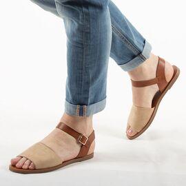 Sandale de dama, bej, talpa joasa si comoda 880-36-APRICOT, Marime: 35, imagine