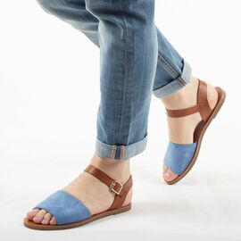Sandale de dama, bleu, talpa joasa si comoda 880-36-BLUE, Marime: 35, imagine