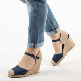 Sandale de dama, albastre, cu talpa ortopedica, comode K086-ALBASTRU, Marime: 36, imagine