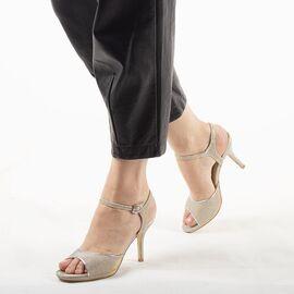 Sandale dama de ocazie argintii 8TA1-9B-S, Marime: 35, imagine