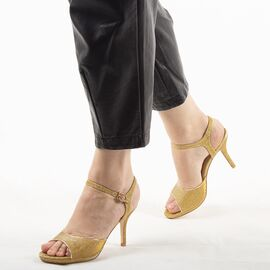 Sandale dama de ocazie aurii 8TA1-9B- G, Marime: 39, imagine