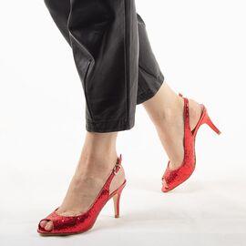 Sandale dama cu toc rosii 8T8555-19-R, Marime: 38, imagine