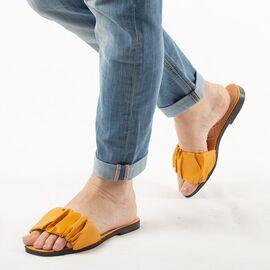 Papuci de dama, galbeni cu talpa joasa PP003-GALBEN, Marime: 36, imagine