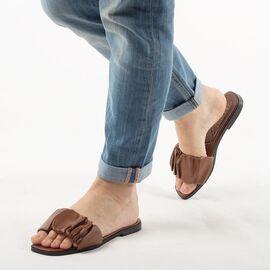 Papuci de dama, maro cu talpa joasa PP003-MARO, Marime: 36, imagine