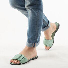 Papuci de dama, verzi cu talpa joasa PP003-VERDE, Marime: 37, imagine