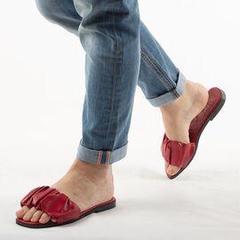 Papuci de dama, rosii cu talpa joasa PP003-ROSU, Marime: 36, imagine