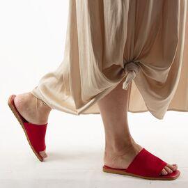 Papuci de dama, rosii cu talpa joasa PP11-ROSU, Marime: 36, imagine