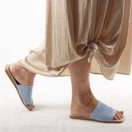 Papuci de dama, bleu cu talpa joasa PP11-BLEU, Marime: 36, imagine