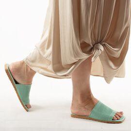 Papuci de dama, verzi cu talpa joasa PP11-VERDE, Marime: 36, imagine