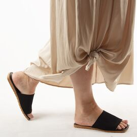 Papuci de dama, negri cu talpa joasa PP11-NEGRU, Marime: 36, imagine