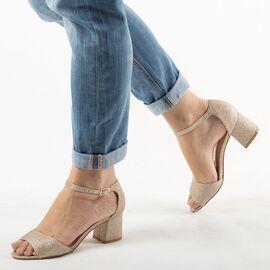 Sandale dama aurii A-16020-1-GOLD, Marime: 35, imagine