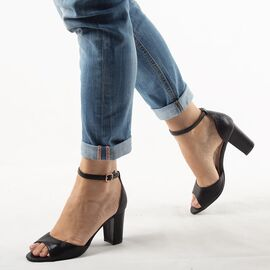 Sandale dama negre SA-5-NEGRU, Marime: 35, imagine