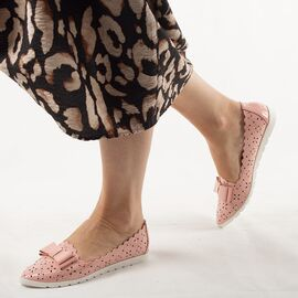 Pantofi de dama, lacuiti, cu talpa joasa, roz LM95-PINK, Marime: 36*, imagine