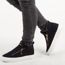 Sneakers dama, din material textil K8608-NEGRU, Marime: 40, imagine