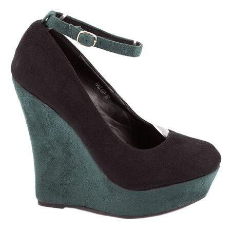Pantofi negri cu platforma 1062-L01NV