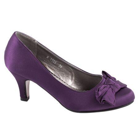 Pantofi de dama cu funda A1103PURPLE