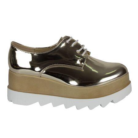 Pantofi dama aurii casual cu platforma VB72012-O, Marime: 41, imagine