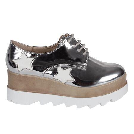 Pantofi dama cu siret si platforma VB72013-A, Marime: 40, imagine