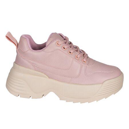 Sneakers dama roz cu talpa groasa B8135-R, Marime: 39, imagine