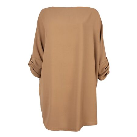 Rochie dama oversize camel 8877-C, imagine